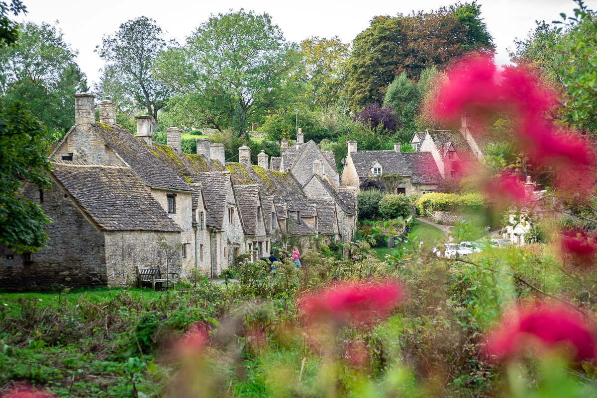 The village of Bibury in the Cotswolds in the English Countryside