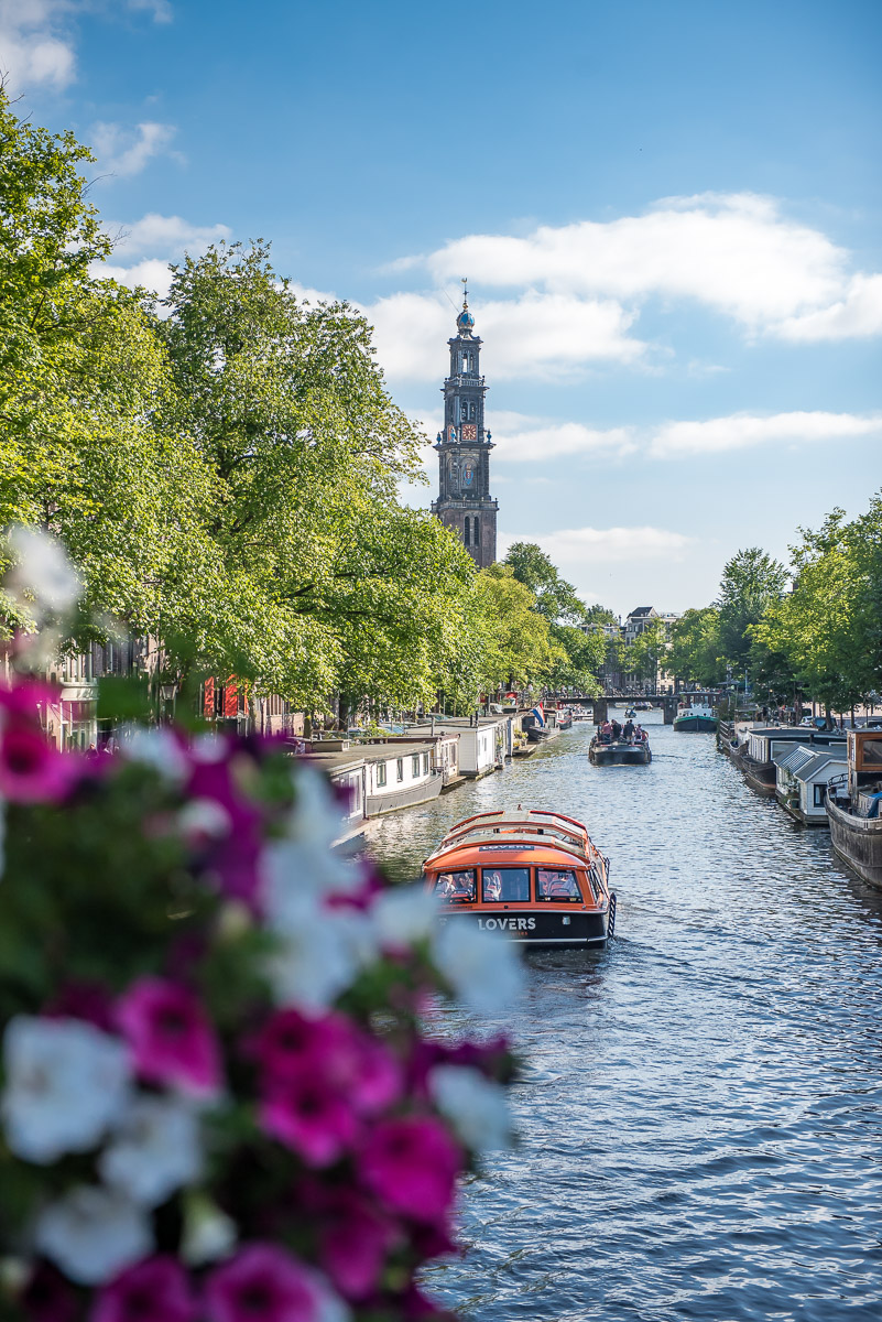 View over the canals in Amsterdam