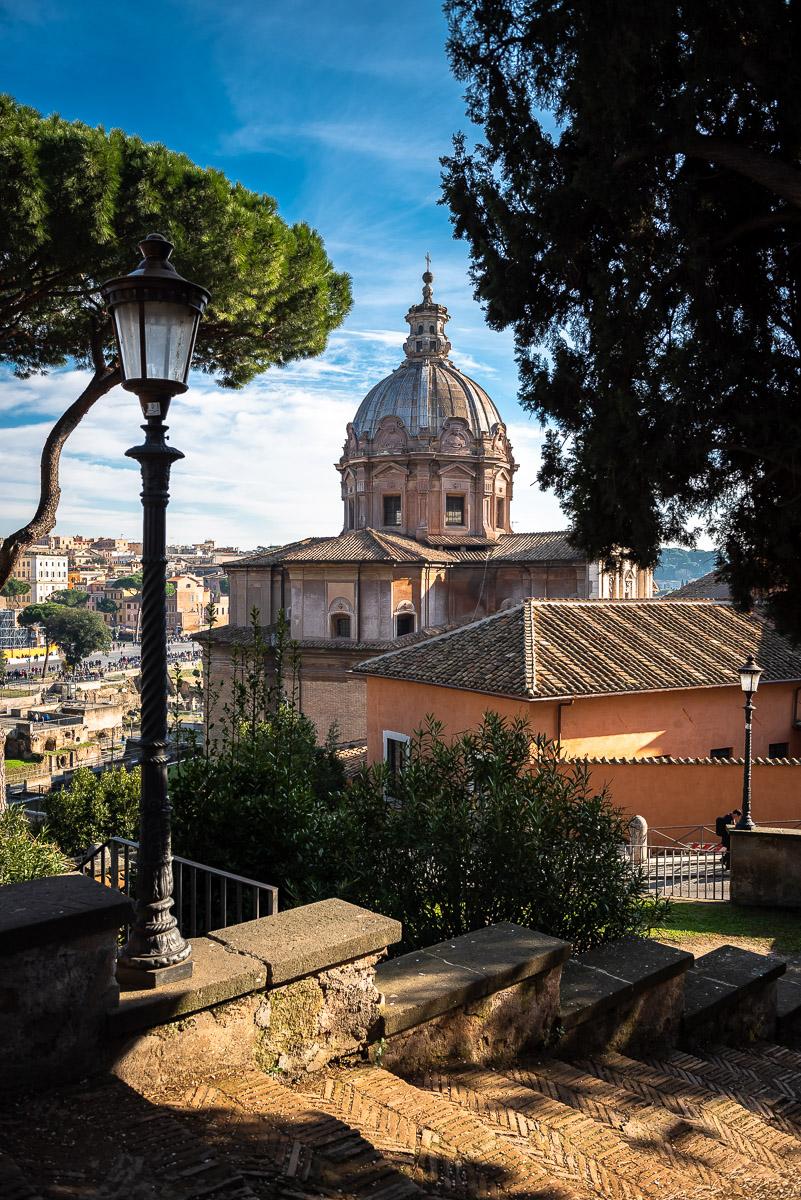 Church dome in Rome