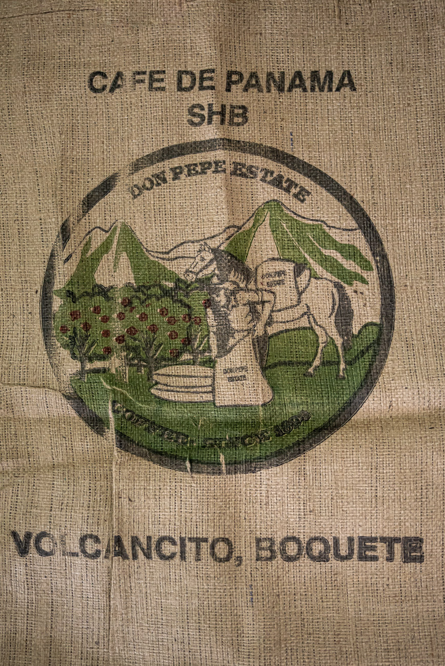 Detail of a coffee sack