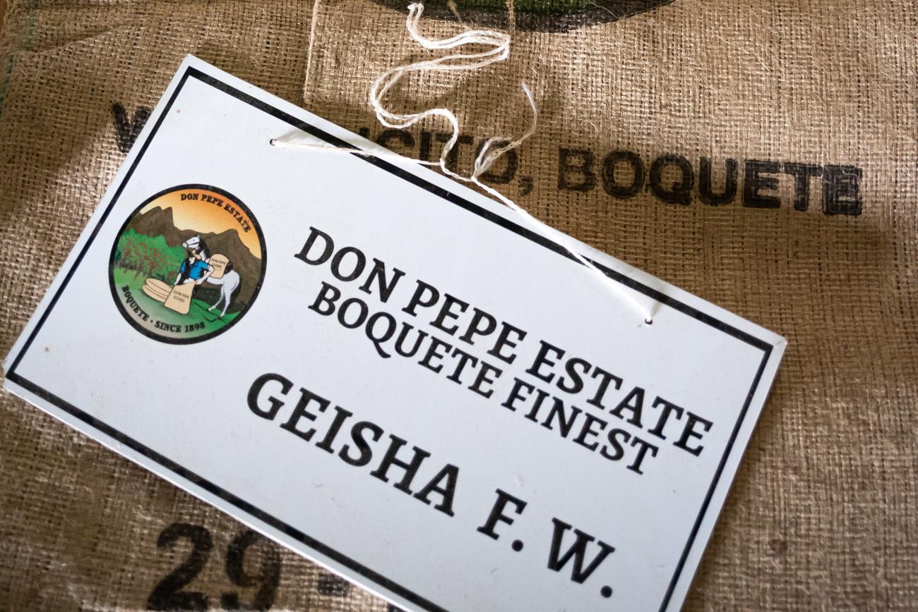 Label for Geisha Coffee