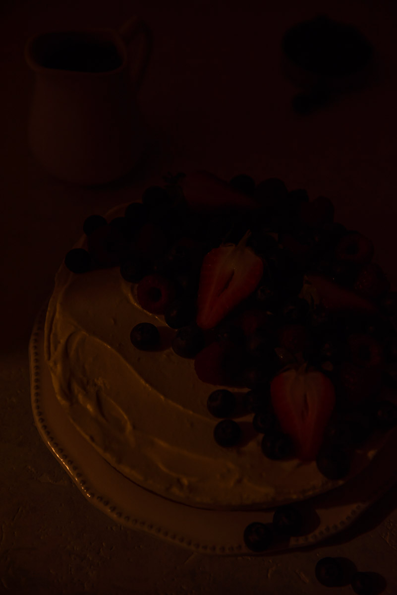 Dark image to show how iso block out ambient light