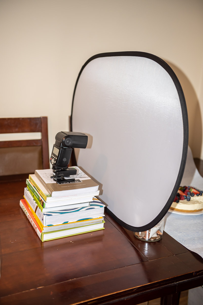 Behind the scenes of my super cheap and easy flash setup