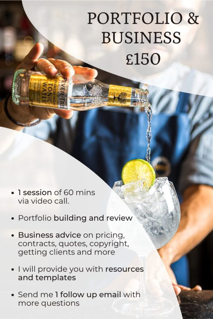 Photography portfolio review and business advice £150